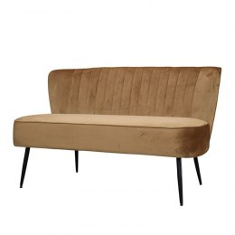 Welurowa sofa retro na nóżkach CARAMEL Chic Antique