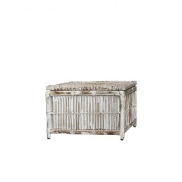 Bielony stolik rattanowy NANCY Chic Antique
