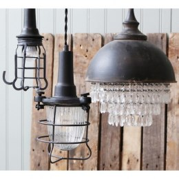 Metalowa lampa industrialna Factory B Chic Antique